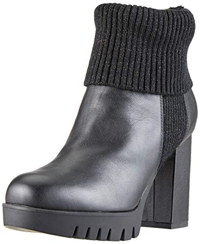 Fornarina Damen Bea3 Hohe Sneaker, Schwarz (Black), 39 EU