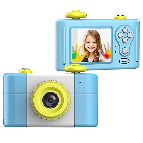 Camking Cámara para niños, cámara digital recargable anticaída a prueba de golpes Mini HD 5.0mp 4X Cámara de video digital para niños a prueba de polvo con marco de fotos Cámara preescolar Juguetes
