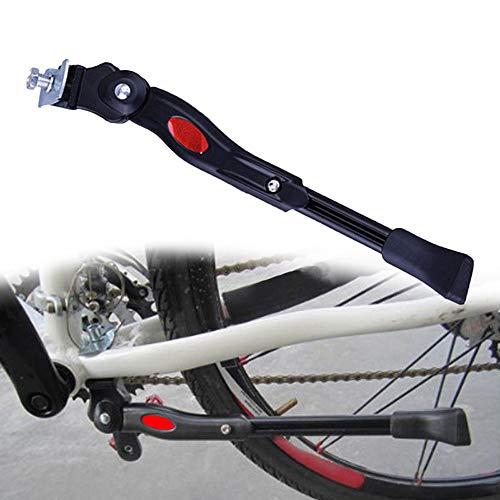 Gasea Soporte para el Mediopié de la Bicicleta de Montaña, Aluminio Soporte Ajustable del Retroceso de Bici Caballete Bicicleta para 22'24' 26'700c Tire Cycling Road Bicicleta Negro