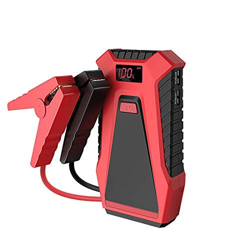 Gyj&mmm Auto-Starter 600A 12000mAh bewegliche 12V Auto Battery Booster Dual-5V USB-Energien-Bank mit Smart Jumper-Kabel und AC Adapter