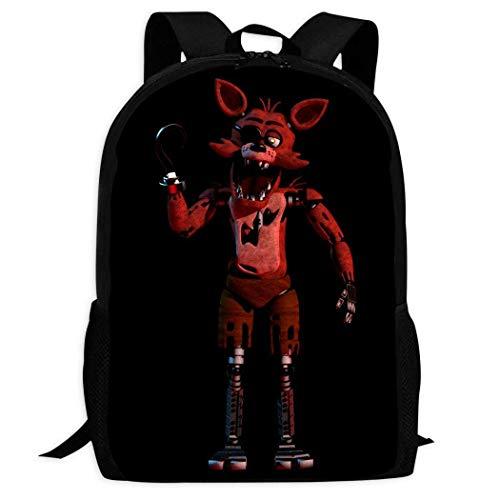 XCNGG Mochila de impresión de fotograma completo para adultos Mochila informal Mochila Mochila escolar Custom Pattern Backpack 3D Printing f-n-a-f Foxy Children's School Backpack Teen Boys and Girls C