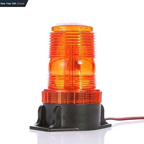 Gledto Automotive Emergency Strobe Lights - 30 LEDs 15W Waterproof Hazard Warning Flash Light for Car, Truck, Automotive, Amber Yellow
