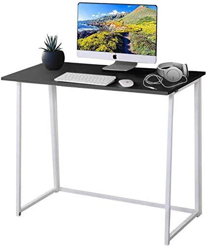 YOLEO faltbar Schreibtisch, Klapptisch Computertisch Bürotisch Arbeitstisch Basteltisch für Home Office (Schwarz)