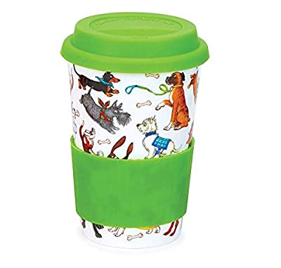 Funny Pups Spill-Proof Porcelain To Go Cup