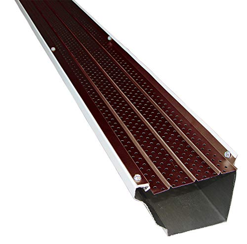 FlexxPoint 30 Year Gutter Cover System, Brown Residential 5