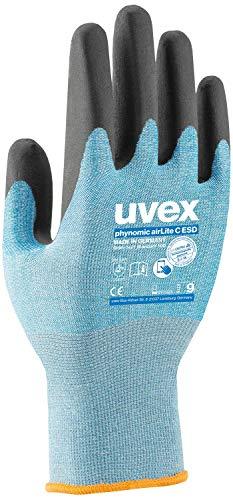 Uvex Phynomic AirLite C ESD Arbeitshandschuhe - 10 Paar Schnittschutzhandschuhe 07/S