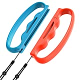 Grips for Fitness Boxing Switch, YUANHOT Comfort Boxing Handle Grip for Switch Joy-Cons Left and Right, Red/Blue