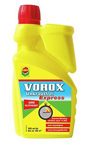 VOROX Unkrautfrei Express, Bekämpfung von Unkräutern an Zierpflanzen, Obst und Gemüse, Konzentrat, 500 ml