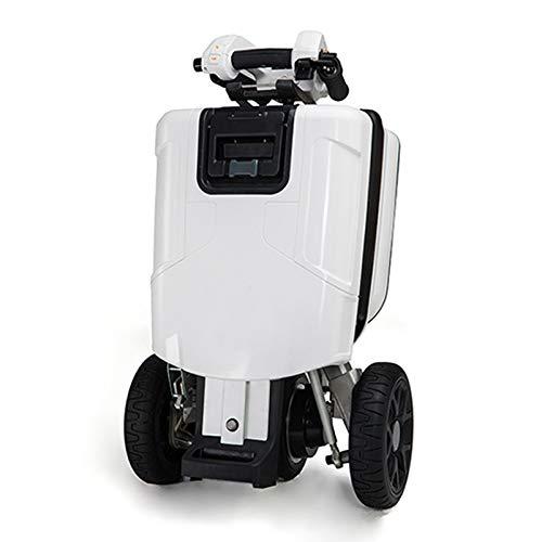 YF-Mirror Scooter Elettrico per la Mobilità per Anziani, portatori di Handicap o Adulti disabili | Pieghevole, Leggero, Alimentazione a Batteria | (Bianca)
