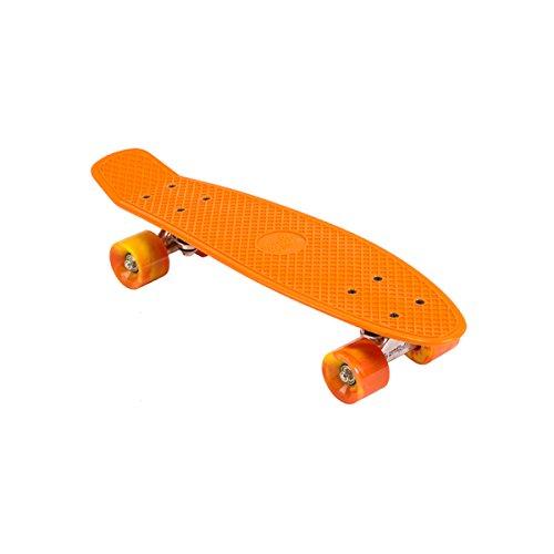 Street Surfing Beach Board Gnarly Sunset Longboard Rollbrett orange 56cm