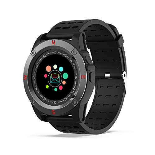 Orologio Intelligente Bluetooth con la Sim Card Slot, AIVEILE Bluetooth Smart Watch Telefono con Notifiche e Camera, Fitness Sport Android Wear Pedometer Cronometro per Donna Uomo per iPhone Android
