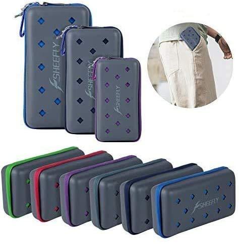 SHEEFLY Microfiber Sport Towel Set (S,M,L,XL) - Quick Dry, Ultra Light,Super Absorbent Towel Beach Towels for Travel, Camp, Yoga, Gym, Golf, Pool, Swim, Spa + EVA Case & Carabiner