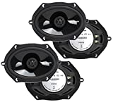 2 Pairs of Rockford Fosgate P1572 5x7' Punch Series 2-Way Coaxial Car Speakers