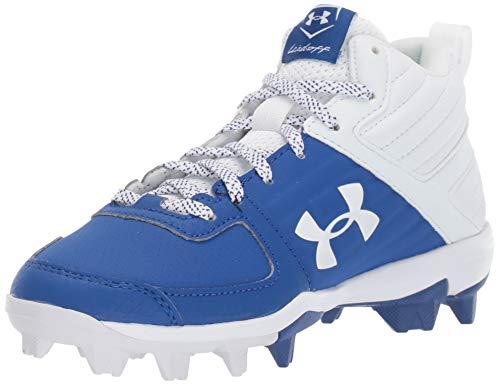 Under Armour Boys' Leadoff Mid RM Jr. Baseball Shoe, Royal (400)/White, 10K