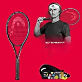 Junior Anfänger Tennisschläger Single Carbon Training Tennisschläger Sport Fitness Tennisschläger,Black-66cm/26inches
