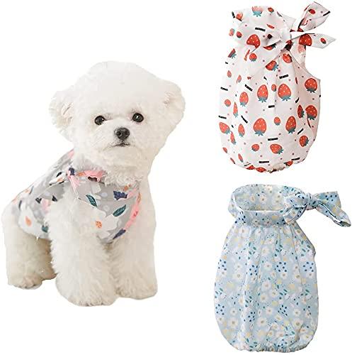 Naokenu 3 piezas de vestidos de perro para perros pequeños niña perro...