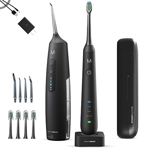MouthArmor Sonic, Electric Toothbrush and Cordless Water flosser, Toothbrush Travel case and Water flosser Travel Bag