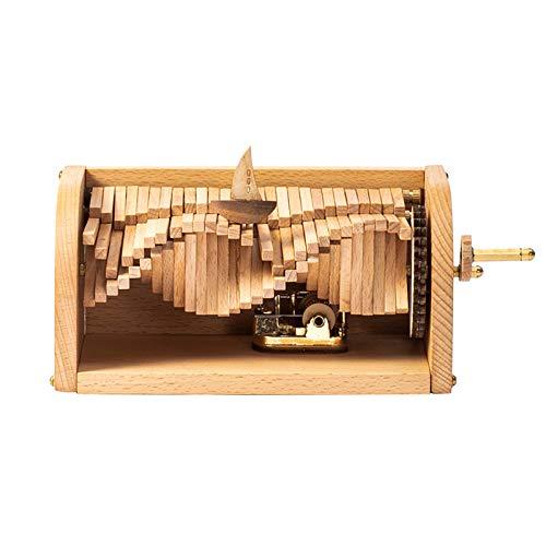 ZLSP Ondas móviles Cajas de música música de la manivela de la Caja Regalos for los niños de la Novia de la Mujer por los Regalos de Año Nuevo del Partido del día de Fiesta de cumpleaños (Madera)