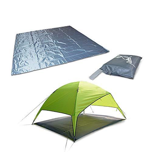 Vlook wasserdichte Campingplane mit multifunktionalem Zeltfußabdruck, Aufbewahrungstasche, Fester Abriebfestigkeit, geringes Gewicht und kompakt, für Wanderpicknicks