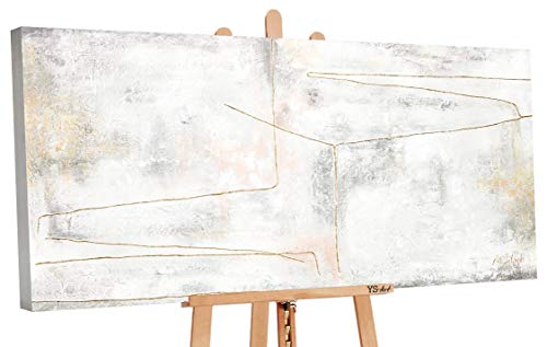 - Art Premium   Pintura acrílica lazo dorado   Cuadros de lienzo pintados a mano   Pintura acrílica   Arte   Lienzo   Unikat   Multicolor   PS 097 (160 x 80 cm)