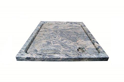 Duschwanne aus Naturstein, Duschtasse, Granit, 90 * 90cm, Juparana