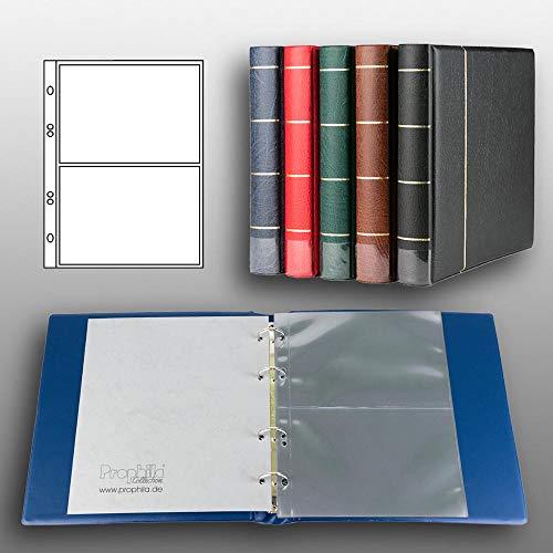 Prophila Kobra Postkarten-Album (blau) mit 20 Hüllen für 40 Postkarten