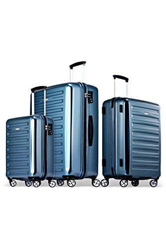Probeetle by Eminent Luggage Set Voyager IX (2. Gen) 3 pcs Lightweight Polycarbonate Hard Shell 4 Silent Wheels TSA Lock Graphite