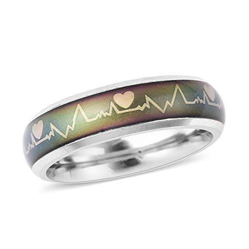 TJC Heartbeats Band Ring for Women Size N Gift for Wife/Girlfriend with