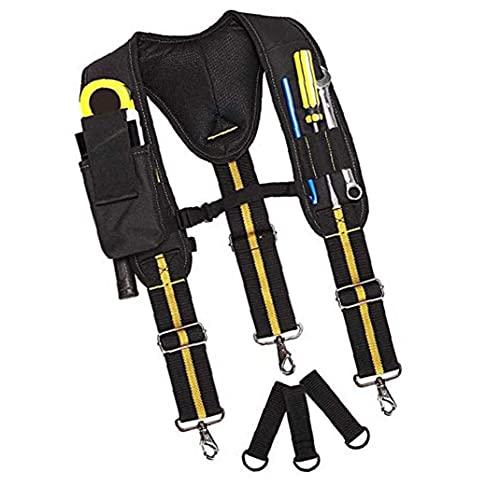 Cinturón de herramientas tirantes acolchado lumbar ajustable para trabajo pesado soporte multi-bolsillos para carpintero electricista profesional durable herramienta para INDUSTRIAL