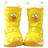 [Joah Shop] ポケモン ピカチュウ 男の子 女の子 あったか ふかふか ライトアップ ピカピカ 光る靴 スノー ブーツ (19.0 cm) [並行輸入品]
