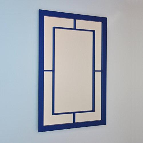 DECOHOGAR.SHOP Miroir Mural rectangulaire - Asie Fine Grand - 60 x 90 cm - Laqué Noir