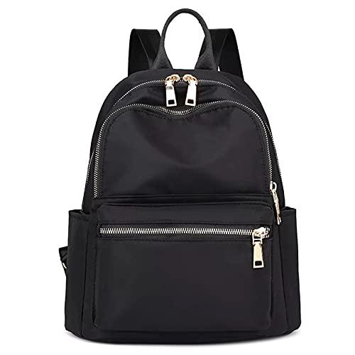 FORRICA Mochila Mujer Casual Mochila Escolar Niña Moda Backpack Señoras Daypack Paño Oxford Impermeable Mochila Negro