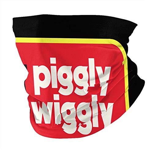 Lfff Pasamontañas para el Cuello de Las Mujeres Piggly-Wiggly-Logo Face Cover Unisex multifunción de Microfibra Cuello más cálido Bufanda para la Cara