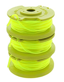Ryobi One PLUS+ AC80RL3 .080 Inch Twisted Line and Spool Replacement for Ryobi 18v 24v and 40v Cordless Trimmers  3 Pack