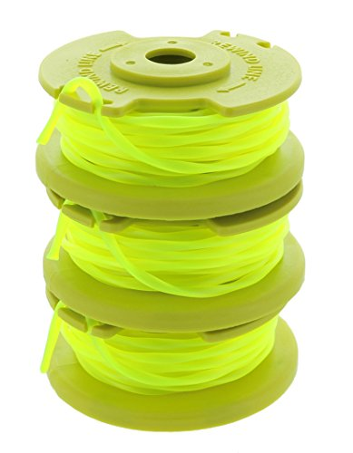 Ryobi One PLUS+ AC80RL3 .080 Inch Twisted Line and Spool Replacement for Ryobi 18v, 24v, and 40v Cordless Trimmers (3 Pack)