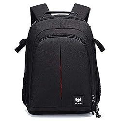 FUR JADEN DSLR SLR Camera Lens Shoulder 14 Inch Laptop Backpack for Canon Nikon Sigma Olympus with Tripod Holder,FUR JADEN,BM41
