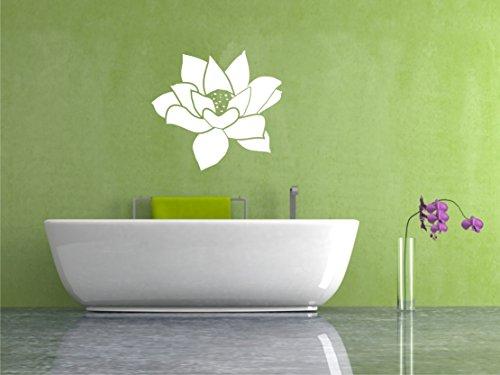 Sticker mural Fleur de Lotus Fleur de Lotus Sticker Mural Autocollants Lotus Mandala dans 33 couleurs mat ou brillant 60 x 60 cm - Gris clair mat