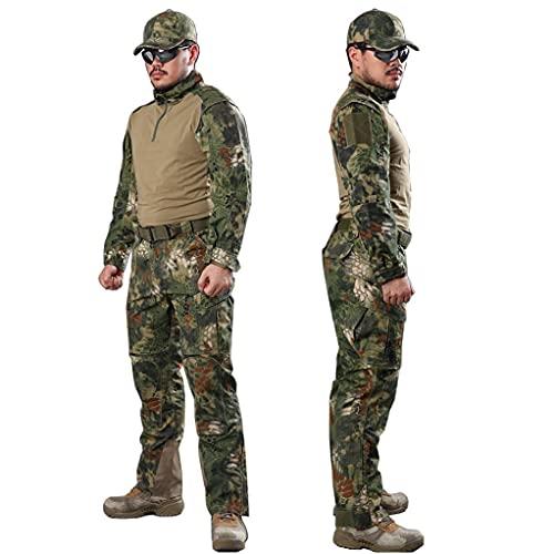 ATAIRSOFT tactique Hommes BDU Combat uniforme Chemise & Pantalons Costume pour extérieur armée militaire Airsoft Paintball Jeu de guerre tournage Mr, xx-large