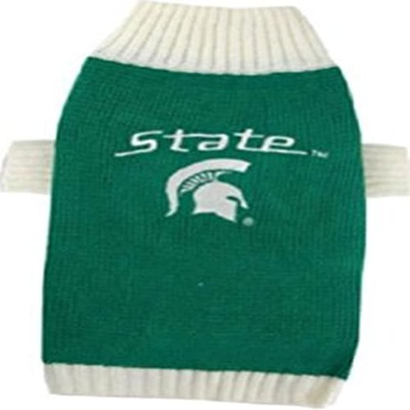 Pets First Collegiate Michigan State Spartans Pet Sweater, X-Small