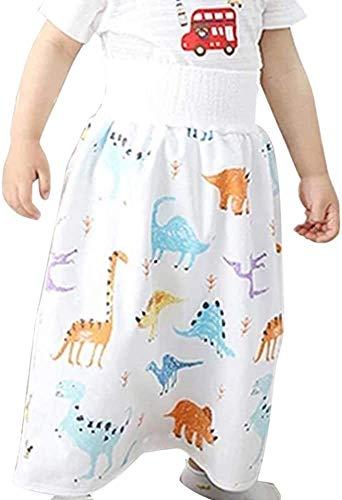 ZGBQ Falda de pañal cómoda para niños, Pantalones para bebés pequeños, Pantalones Cortos Impermeables y Que absorben la Humedad, Pantalones Cortos Lavables Reutilizables 2 en 1 (Animal, L)