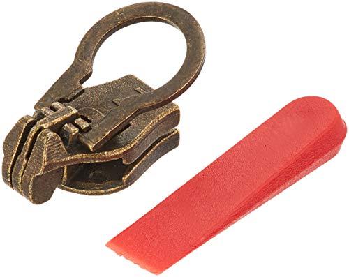 ZlideOn–Ersatz-Schieber 5A für Standard-Reißverschlüsse (Metall), 5,70–6,1mm, Messing (Antik-Look)