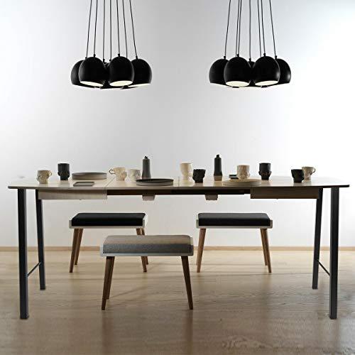 Tengchang 28'' Tall Metal Dinning Table Leg Cast Iron Desk Legs, Industrial style Trapezoid Furniture Legs, Set of 2