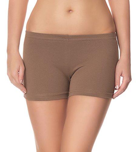 Ladeheid Damen Shorts Radlerhose Unterhose Hotpants Kurze Hose Boxershorts LAMA05, Beige16, M-L (Herstellergröße: 38-40)