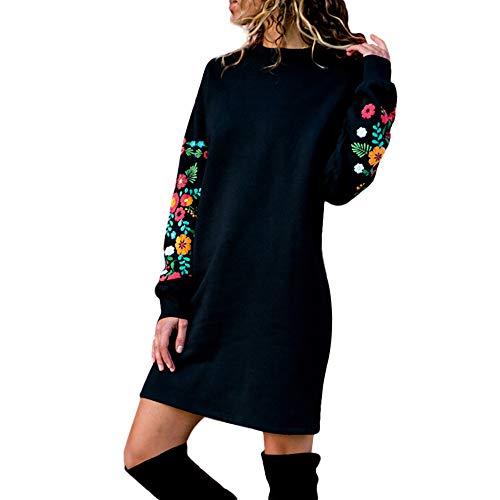 Abito YanHoo Felpe Tumblr Donna Sportiva Crop Top Autunno,Ragazza Casual Sweatshirt Pullover Elegante Manica Lunga Maglietta Cotone Camicette T-Shirt Yoga Fitness Calcio Maglione