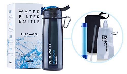Daabliz: Botella filtrante de viaje: filtro