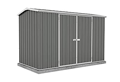 ABSCO 30152GK Premier Storage Shed, 10'x5', Woodland Grey