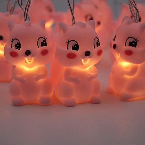 Mtawou - Cadena de luces LED decorativas, funciona con pilas, cadena de luces de animales, vinilo, bonita decoración, juguete para niños, cadena de luces para la decoración de fiestas grandes