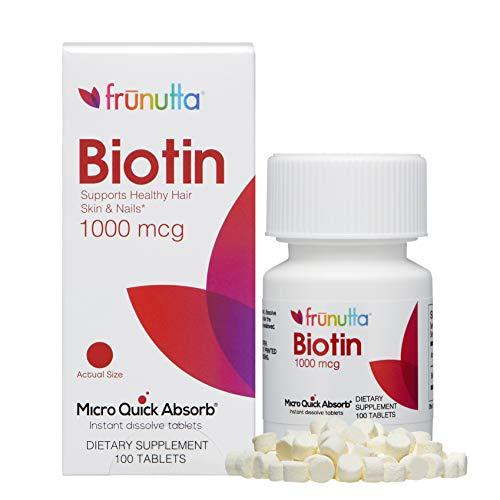 Frunutta Biotin Under The Tongue Instant Dissolve Tablets - 1000 mcg x...