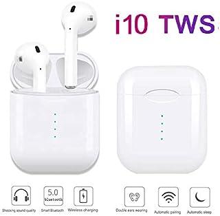 24f5007a055 I10 Tws. Mini Auriculares Inalámbricos Bluetooth 5.0 con micrófono  Integrado + Caja de Carga Incluido