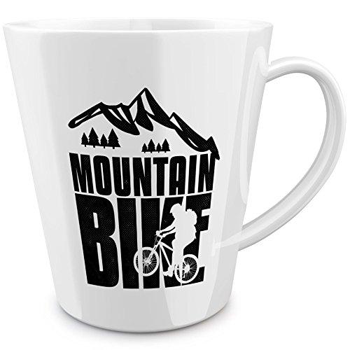 Funtasstic konische Tasse Mountain Bike black 100{fb37bbc7c7c79cea45188168d9346d7cbc017dfe313613a1b2b818a8704554af} handmade in Deutschland - zum Tee, Kaffee, als Geschenkidee mit Spruch, witzig, Küche Deko